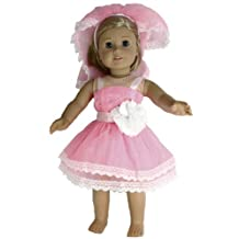 BUYS BY BELLA Bridesmaid Dress for 18 Inch Dolls Like American Girl,Pink