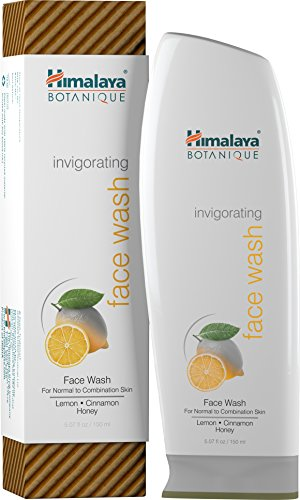 Himalaya Botanique Invigorating Face Wash for Normal to Combination Skin, Free-from Parabens, SLS and Phthalates, Hydrating Facial Cleanser with Lemon, Cinnamon and Honey, 5.07 oz (150 ml)