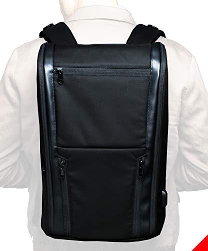 The Taskin Edge – Premium Black Professional Laptop Backpack for Business Travel – Waterproof for Men Women