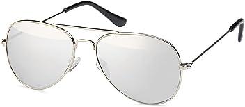 Pilotenbrille für Kinder aus Edelstahl Aviator silberfarben - UV 400 Filter und CE-Prüfzeichen