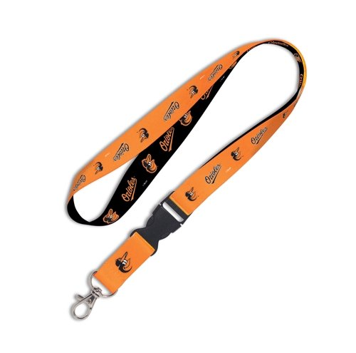 (Wincraft MLB Baltimore Orioles Lanyard with Detachable Buckle, 3/4