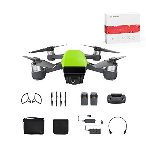 DJI Spark Mini Quadcopter Drone Fly More Combo with Holiday Gift, Meadow Green
