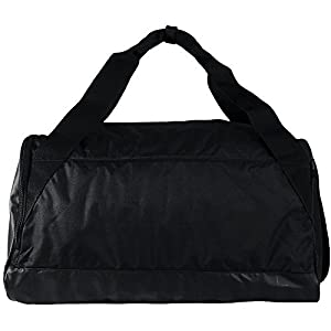 NIKE Brasilia Training Duffel Bag, Black/Black/White, Small