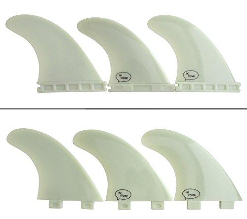 Ho Stevie! Fiberglass Reinforced Polymer Surfboard Fins - Thruster (3 Fins) FCS or Futures Sizes, Choose Color (White, FCS)
