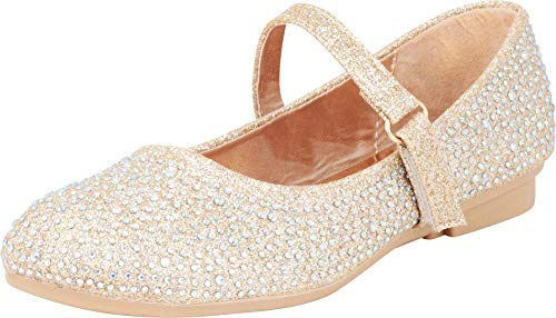 Sparkly Dresses For Kids (Cambridge Select Girls' Glitter Crystal Rhinestone Mary Jane Ballet Flat (Toddler/Little Kid/Big Kid),10 M US)