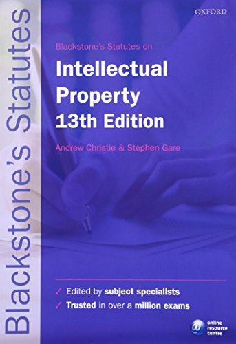 [F.r.e.e] Blackstone's Statutes on Intellectual Property (Blackstone's Statute Series) P.D.F