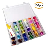 #8: Mlife Embroidery Floss with Organizer Storage Box - 156Pcs Embroidery Kit Includes 100 Skeins Rainbow Color Embroidery Threads, Friendship Bracelets String with 56 Pieces Cross Stitch Tools