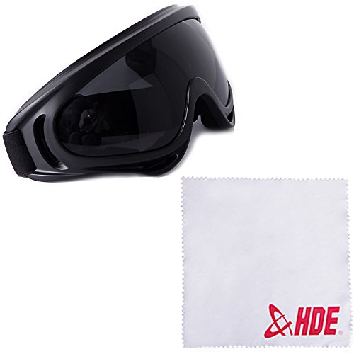 HDE Outdoor Motocross Off Road Dirt Bike Safety Wrap Goggles Motorcycle Protective Lens Eyewear ()