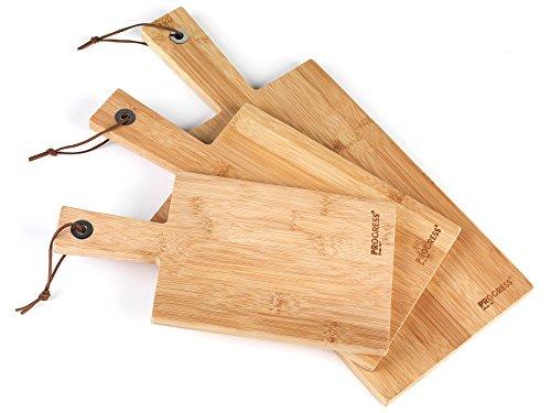 Salter BW06732 Bamboo Paddle Chopping Board Set