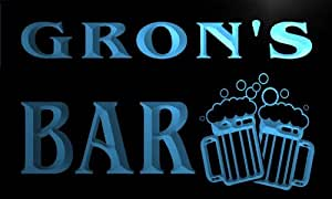 w070982-b GRON Name Home Bar Pub Beer Mugs Cheers Neon Light Sign