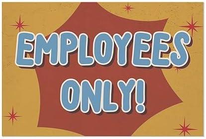 CGSignLab Nostalgia Burst Window Cling 36x24 Employees Only