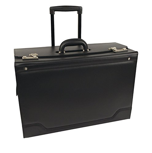 - STEBCO 341626BLK Wheeled Catalog Case, Leather-Trimmed Tufide, 21-3/4 x 15-1/2 x 9-3/4 Inches, Black
