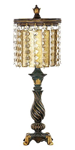 22 in. Table Lamp in Gold Leaf and Black Finish