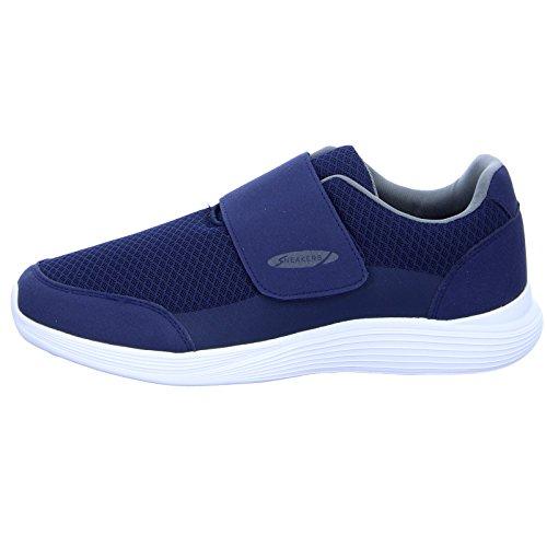 Sneakers 17-0782 Herren Slipper Halbschuh Blau (Blau)