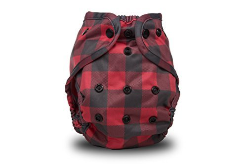 Buttons Cloth Diaper Cover Lumberjack
