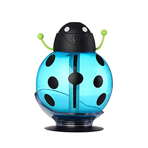 Smalody Beatles Cool Mist Humidifier Portable creative USB Cute Beatles aromatherapy night light vehicle USB Air humidifier home office car (Blue) by Smalody