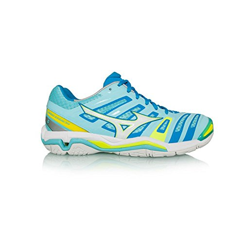 Wave Women's Shoes AW17 Stealth Mizuno Netball Blue 4 pTZqf