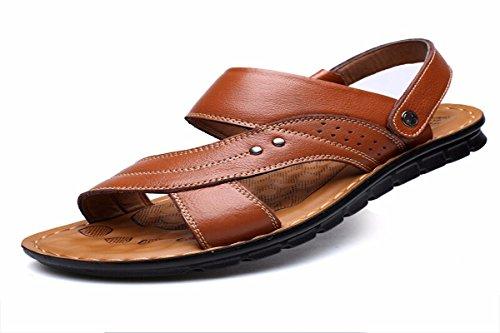 KMJBS-Sandalias para Hombres Sandalias De Cuero Y Los Viejos Treinta Y Ocho Brown Thirty-eight|brown