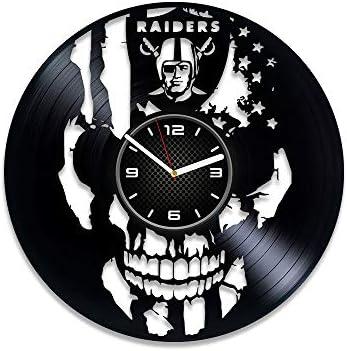 Oakland Raiders Las Vegas Art Vinyl Wall Clock Oakland Raiders Design Gift for Any Occasion