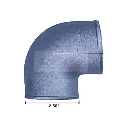 "Rev9Power ( AL-250-90-CAST ) 90 Degree 2.5"" inch cast aluminum elbow pipe For turbo intercooler Universal Fit: Automotive"