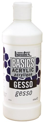 Liquitex BASICS Gesso Surface Prep Medium, 16-oz
