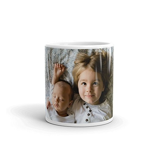 Your PICTURE Perfect Coffee Mug (11oz or 15oz) | PERSONALIZED Any Photo | Perfect Gift for Mom Dad Family Kids Children Brother Sister Best Friend Grandma Grandpa Birthday Mothers Fathers Day Mother Child Photo