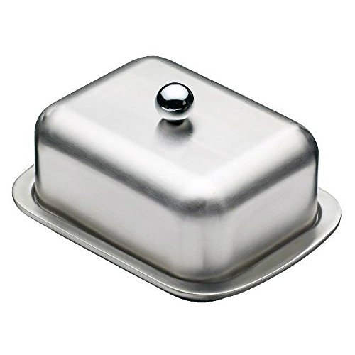 Insulated Stainless Steel Butter Dish (Pack of 4) by Master Class
