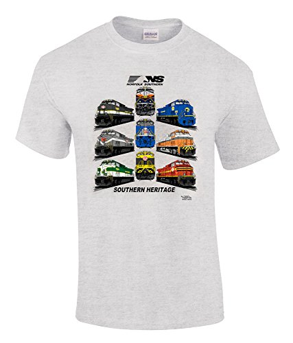 Daylight Sales Norfolk Southern Southern Heritage Authentic Railroad T-Shirt Adult Large [28] Gray (Norfolk Southern Hat)
