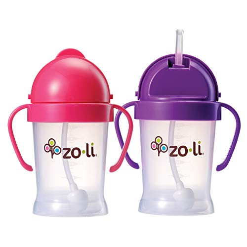 Orange ZoLi BOT Straw Sippy Cup 6 ounces