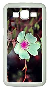 case for sale caseswhite flower pink seeds PC White case/cover for Samsung Galaxy Grand 2/7106