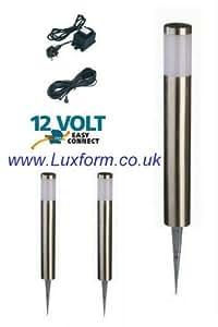 Luxform ECO Low Voltage Post Light, Halifax = 3 Set