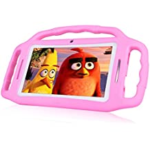 [Upgraded] 7 Inch Kids Tablet PC, Andriod 7.1 Tablet with 1GB RAM 8GB ROM, WiFi, Bluetooth, Dual Camera, Kids Software iWawa Pre-Installed-Pink
