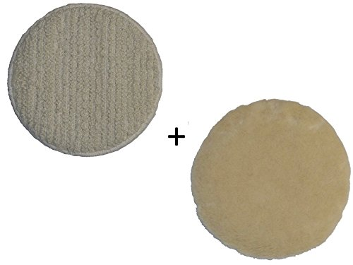 Oreck Commercial Carpet Bonnet AND Lambs Wool Bonnet Orbiter Pads (12
