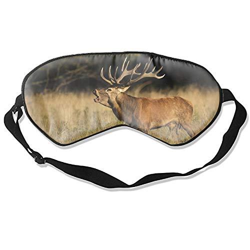 Roaring Deer Sleeping Eye Mask Eye Mask Cover with Adjustable Strap
