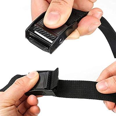 Black Vosarea 2 PCS Luggage Straps Cam Lock Adjustable Cargo Tie-Down Belts for Car 5.75m