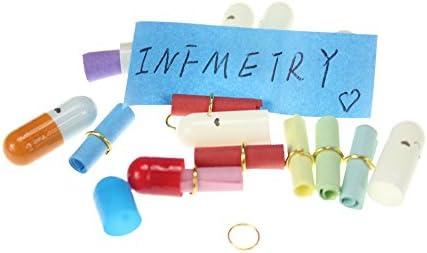 "INFMETRY 90 Pcs Capsule Letters,/""Message in a Bottle/"" Glass Favor Bottle"