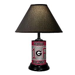 University of Georgia Bulldogs Table Lamp w/ Black Shade