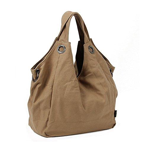 Al aire libre Peak Ladies Casual bolsa lienzo bolso crossbody al aire libre mochila bolsa de la compra bolsa de deportes bolsa de viaje portátil bolso de mano cartera mujer ocio Messenger bolsa de pla marrón