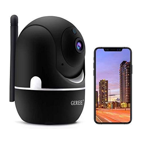 Wireless Security Camera,GEREE 1080P HD Home Security Camera [2020 Latest Upgrade] Indoor Camera WiFi Pet Camera for Home/Nanny with Motion Detection, 2 Way Audio Night Vision IP Camera