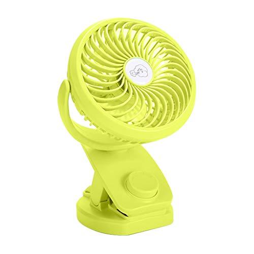 Coohole-01 Adjustable Pedestal Shaking Head Mini Fan Desktop Fan Home Fan USB Charging Fan Head Air Circulator for Home Office Dorm