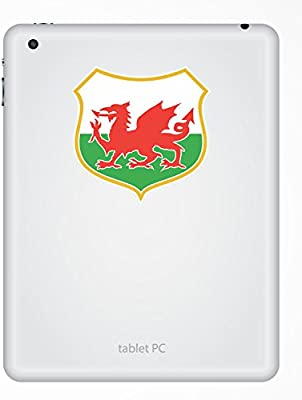 2 x Welsh Flag Shocker Vinyl Sticker Laptop Travel Luggage Car #6178