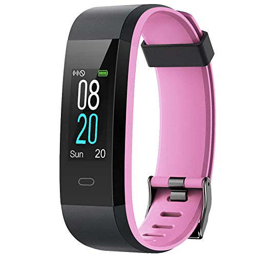 Willful Fitness Tracker with Heart Rate Monitor, Activity Tracker Pedometer with Step Counter Sleep Monitor 14 Sports Tracking,Color Screen IP68 Waterproof,Fitness Watch for Women Men Kids (Pink) ()