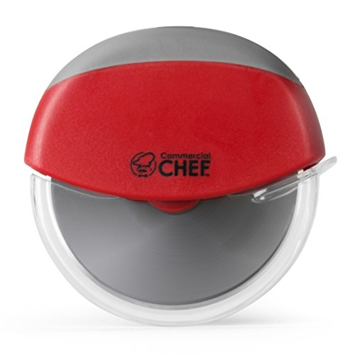 Stainless Steel Pizza Cutter with Non-Slip Handle, Portable Dishwater-Safe by Commercial Chef
