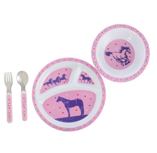 Cowgirl 4 Piece Dinner Set for Kids