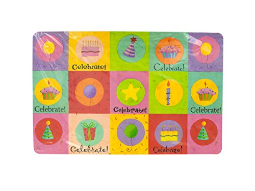 - Kole Imports Celebrate Birthday Placemats Set