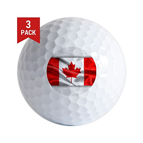 Golf Balls (Set of 3) Resplendent Canadian Canada Flag