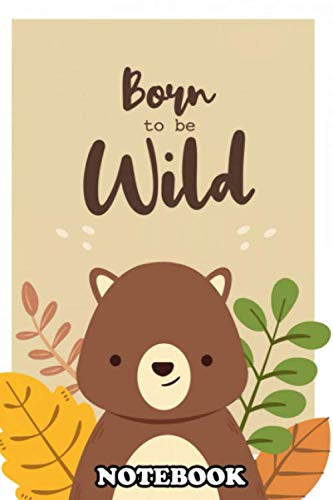 Notebook: Cute Little Animal Poster With A Handmade Illustration , Journal for Writing, College Ruled Size 6' x 9', 110 Pages