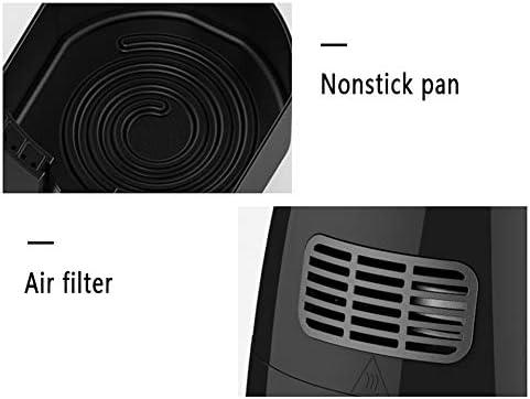 Friteuse sans Huile, 2.6L Friteuse à Air Chaud 1230W, Utilisée Pour la Friture, la Cuisson, la Déshydratation, la Cuisson, le Chauffage, Noir