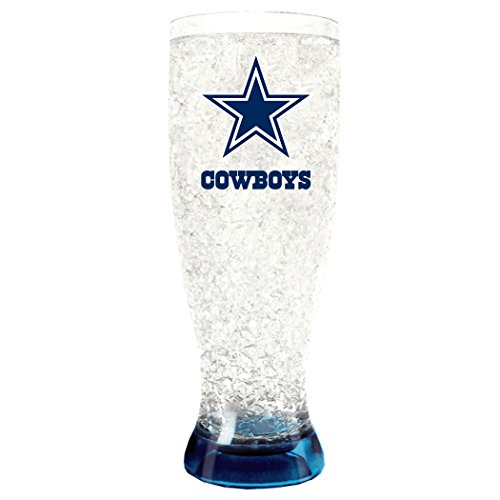 NFL Dallas Cowboys 16oz Crystal Freezer Pilsner 16 Ounce Pilsner Mug