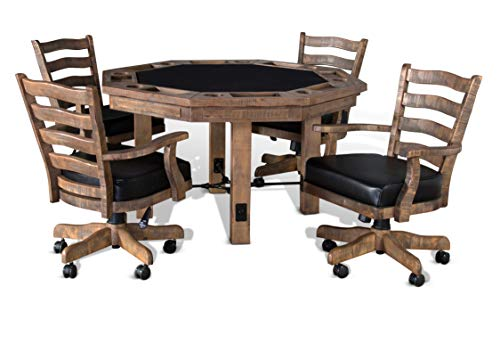 AAP Poker Table with Chairs 2 in 1 Set Come with 4 Chairs or 6 Chairs (6 Chairs Set) (Poker Table Chairs And)